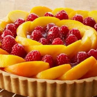 Peach and Raspberry Custard Tart