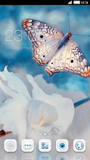 '純美蝴蝶'手機主題——暢遊桌面
