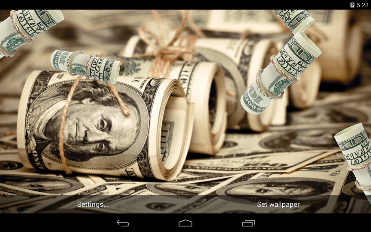 dollars live wallpaper android apps on google play