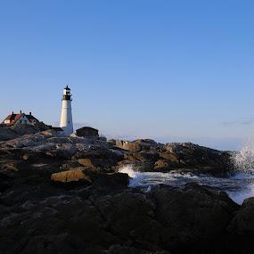 Portland Light Head by VAM Photography - Landscapes Travel ( portland, maine, lighthouse, travel,  )