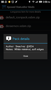 Xposed StatusBar Mods - Sense - screenshot thumbnail