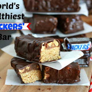 World's Healthiest Home-Made Snickers Bars.