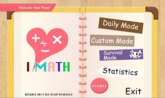 Screenshot of I Love Math