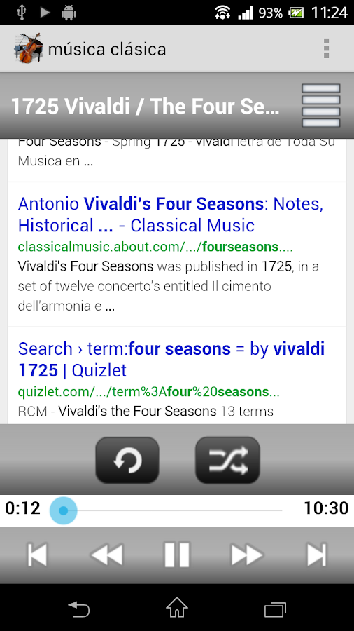 Top classical music - screenshot