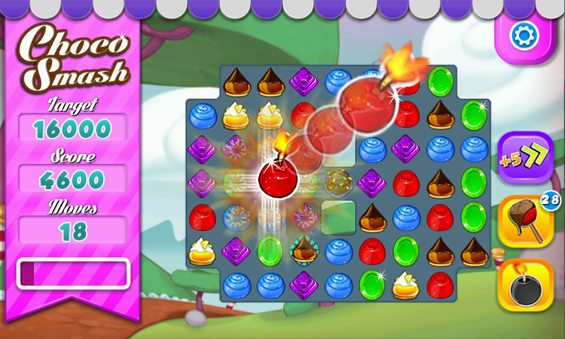 Choco Smash (Unlimited Lives) - screenshot