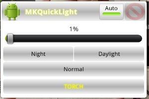 Screenshot of MK QuickLight Brightness/Torch