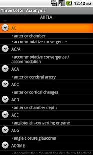 TLA - Ophthalmology- screenshot thumbnail