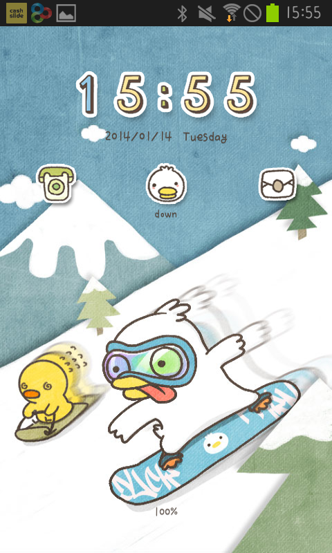 Duck ski go locker theme - screenshot