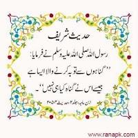 Screenshot of Hadees in Urdu