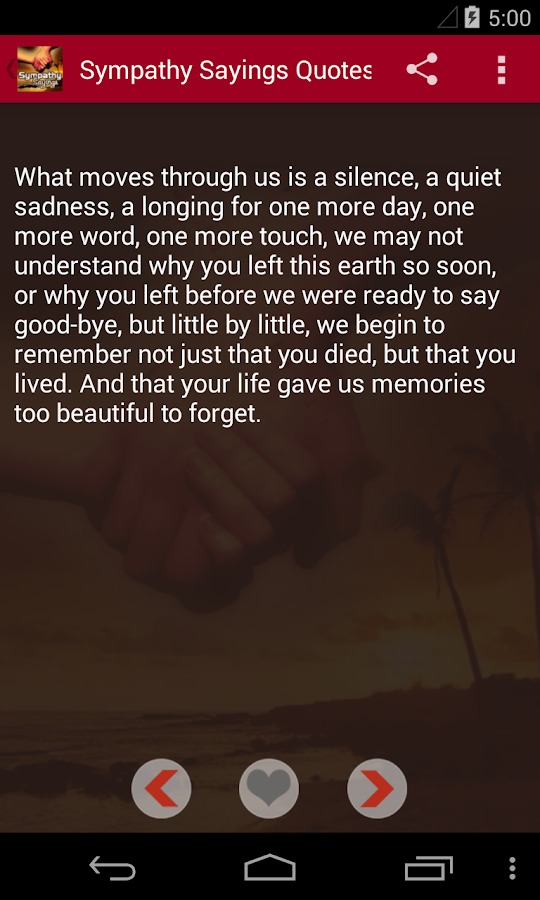 Sympathy Quotes- screenshot