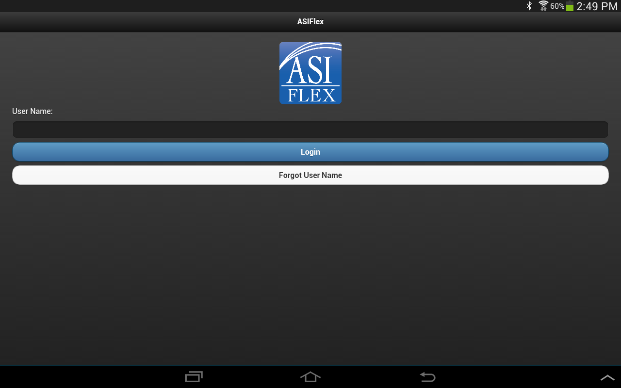 ASIFlex Self Service- screenshot