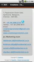 Screenshot of Creations Promoters & Builders