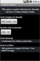 Screenshot of Decoder for US Navy