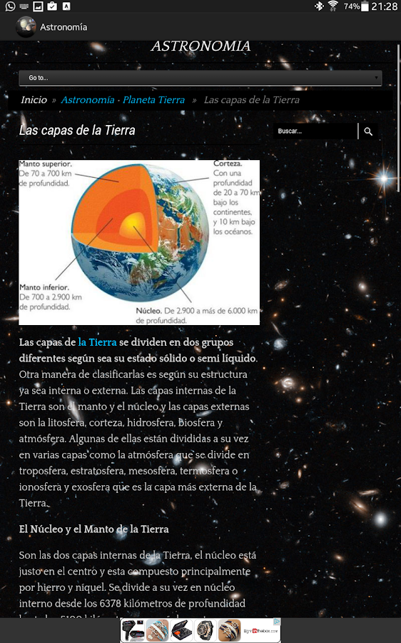 Astronomy App- screenshot