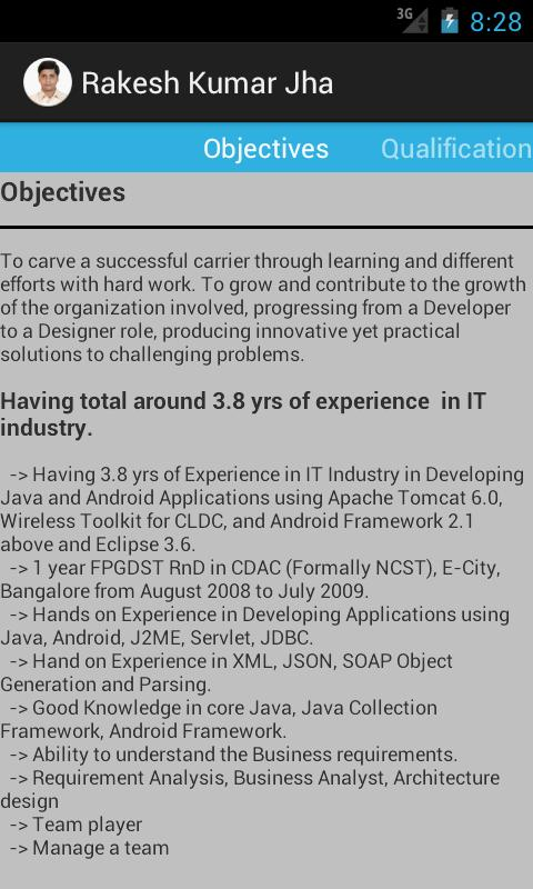Rakesh Kumar Jha Resume- screenshot
