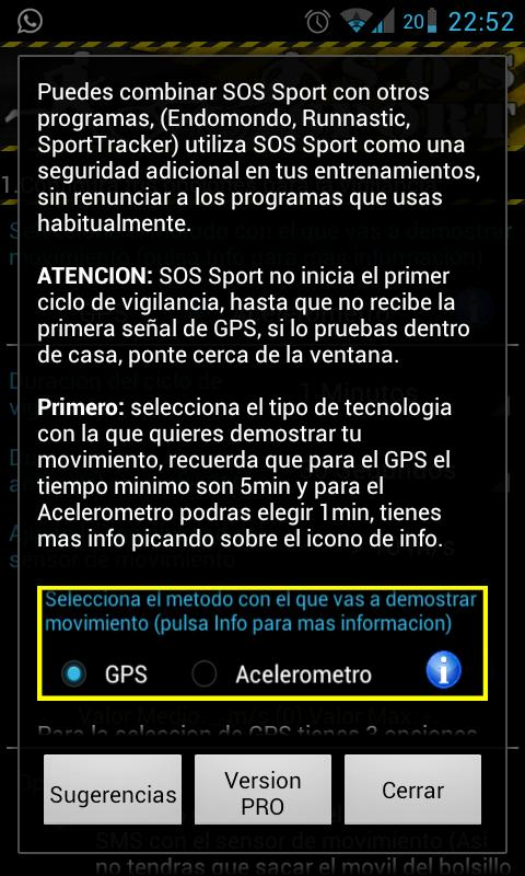 SOS Sports - screenshot