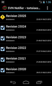 SVN Notifier Lite for Android screenshot 1