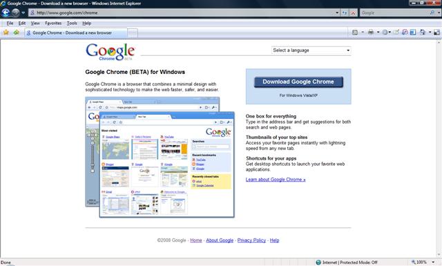 Google Chrome (BETA) for Windows is Released ~ Laksha