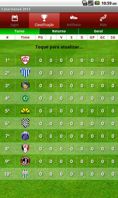 Campeonato Catarinense 2013 - screenshot