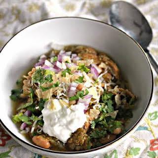 Slow Cooker Leftover Turkey Chile Verde.