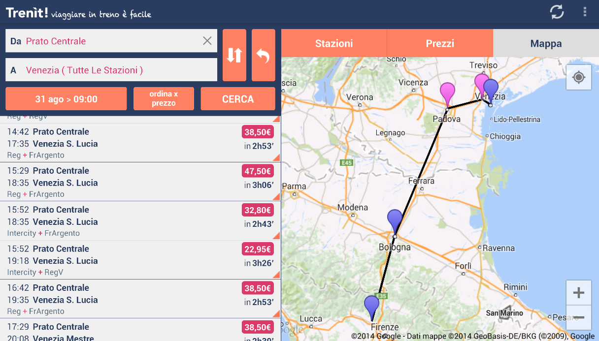 Trenit! (find trains in Italy) - screenshot