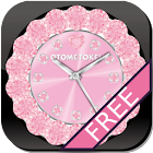 [FREE]CUTE Qlock LWP Rosa Baby icon