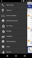 Screenshot of International SOS Assistance