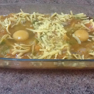 Pisto With Eggs And Grated Cheese.