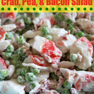 Crab, Pea, & Bacon Salad.