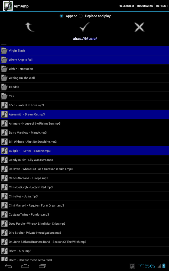 ArmAmp Music Player - screenshot
