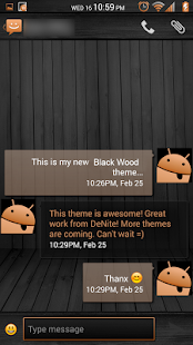 Black Wood Orange CM11 Theme - screenshot thumbnail