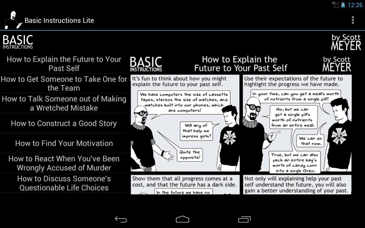 Basic Instructions Lite- screenshot