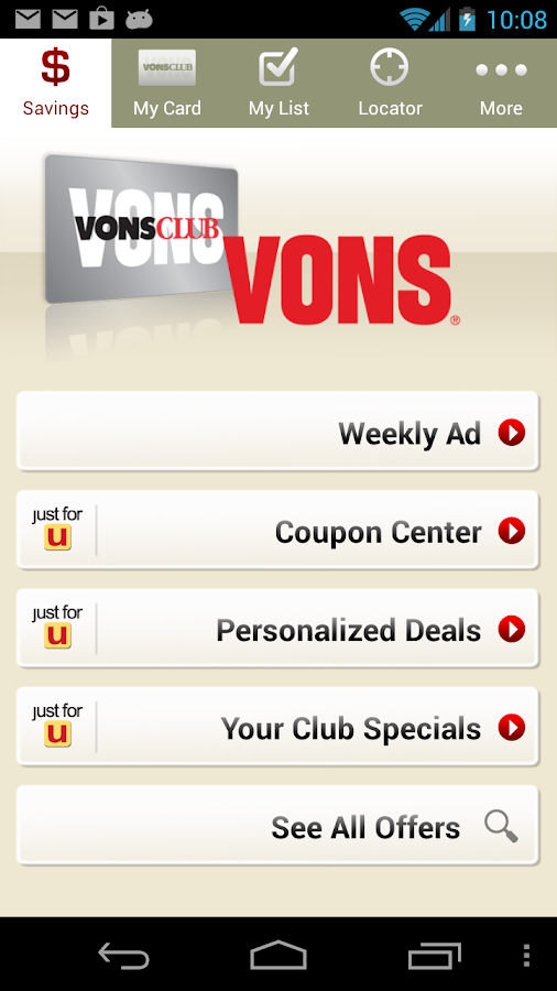 Vons - screenshot