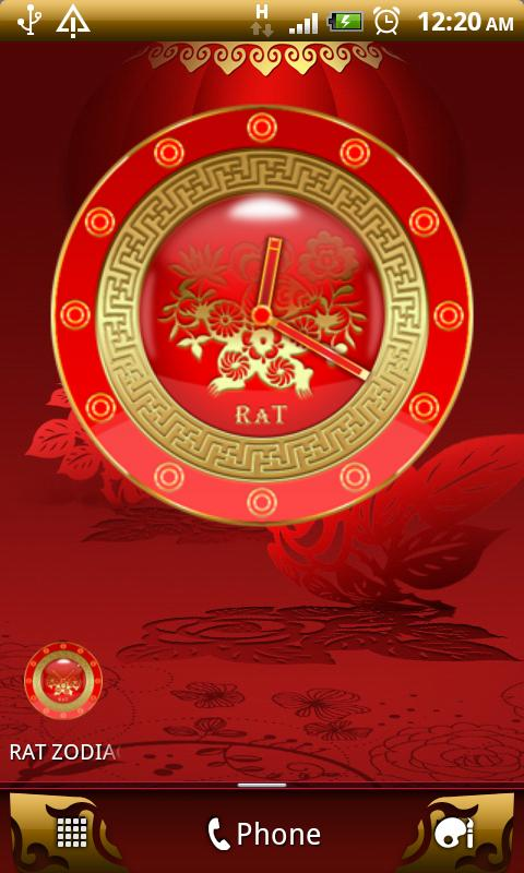 RAT - Chinese Zodiac Clock - screenshot