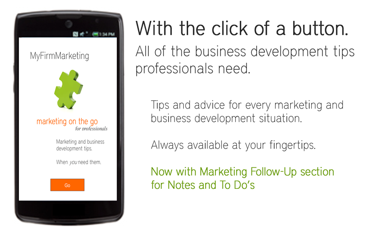 MyFirmMarketing mktg on the go- screenshot