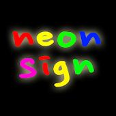 neon signage display