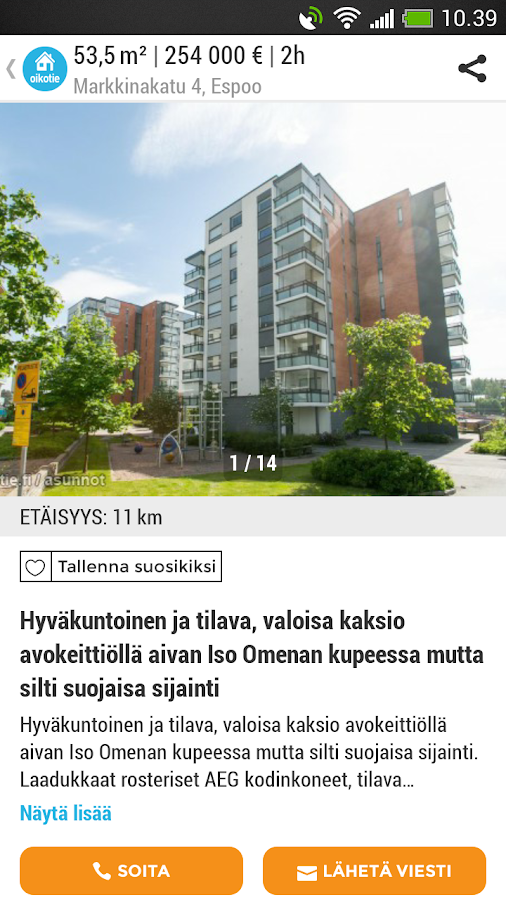 oikotie myytävät asunnot jyväskylä Somero