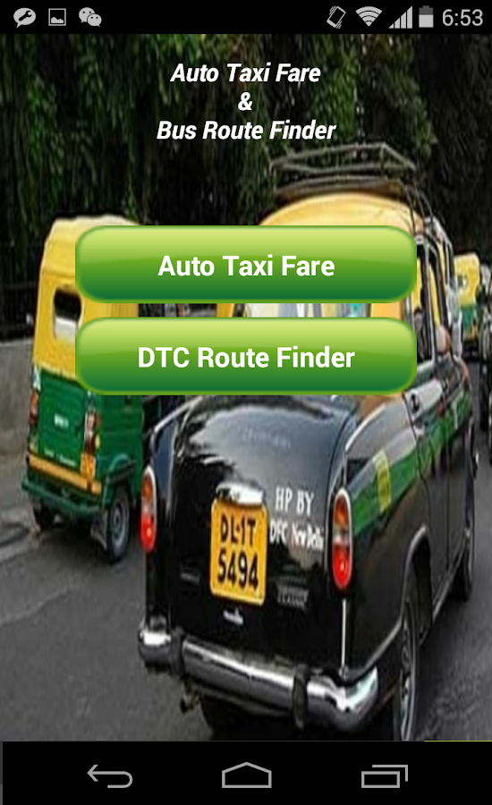 Auto Taxi Fare & DTC Bus Route- screenshot