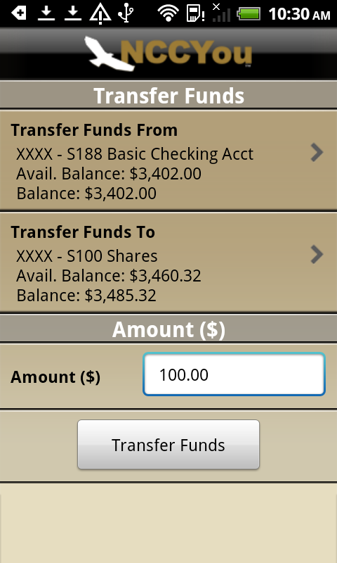 NCCYou Mobile Banking - screenshot
