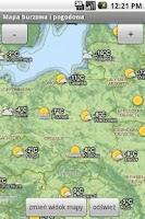 Screenshot of Mapa burzowa i pogodowa