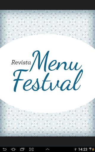 Revista Menu Festval