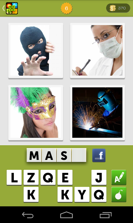 4 Pics 1 Word What's the Photo- screenshot