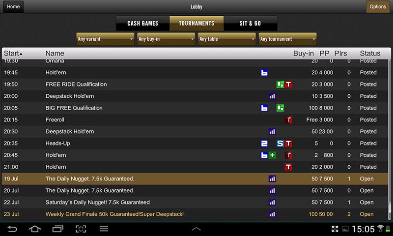 Golden Nugget Poker - screenshot