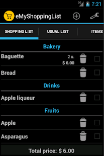 eMyShoppingList - Lista compra - screenshot thumbnail
