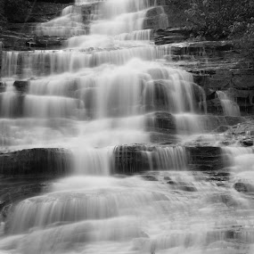 Minnehaha Falls by Lisa Montcalm - Black & White Landscapes (  )