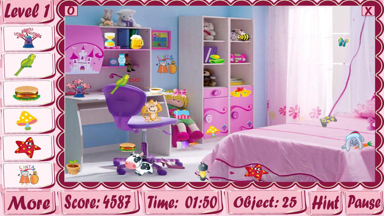 Kids Bedroom Hidden Object girl rooms hidden object game - android apps on google play