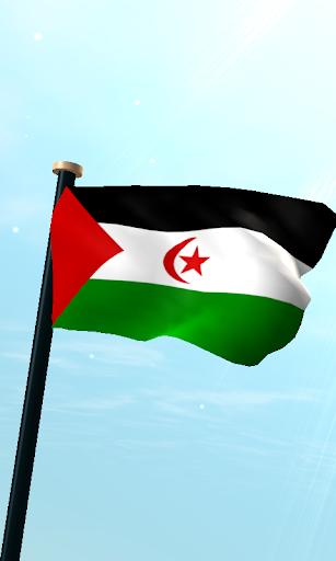 西撒哈拉旗3D免費動態桌布