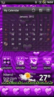 Valentine Purple GO Theme - screenshot thumbnail