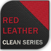 Red Leather Go Launcher theme