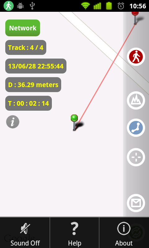 MapTrack  GPS real time track- screenshot